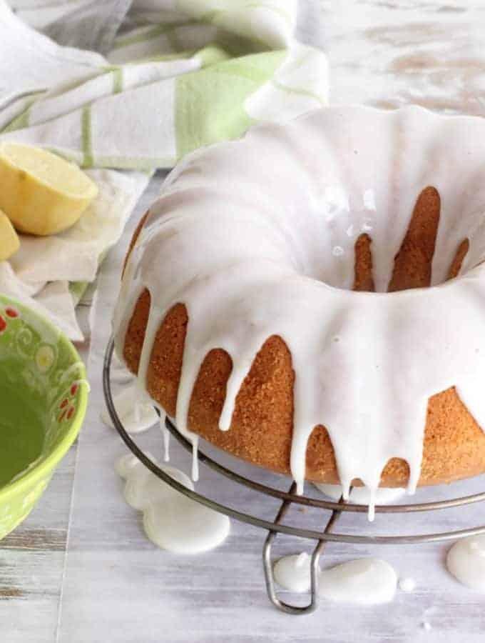 Glazed lemon olive oil bundt cake