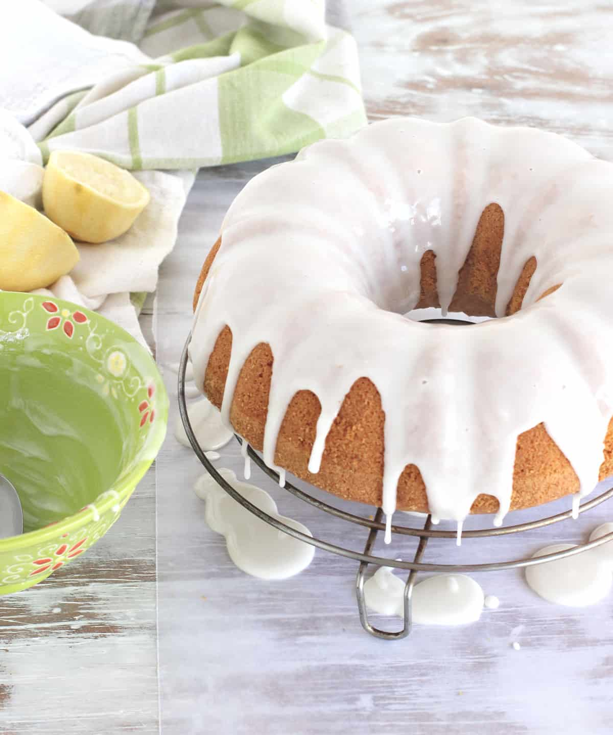 Just glazed lemon olive oil bundt cake