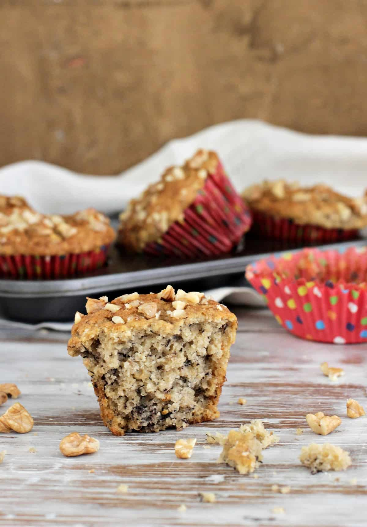 My favorite healthier banana muffins
