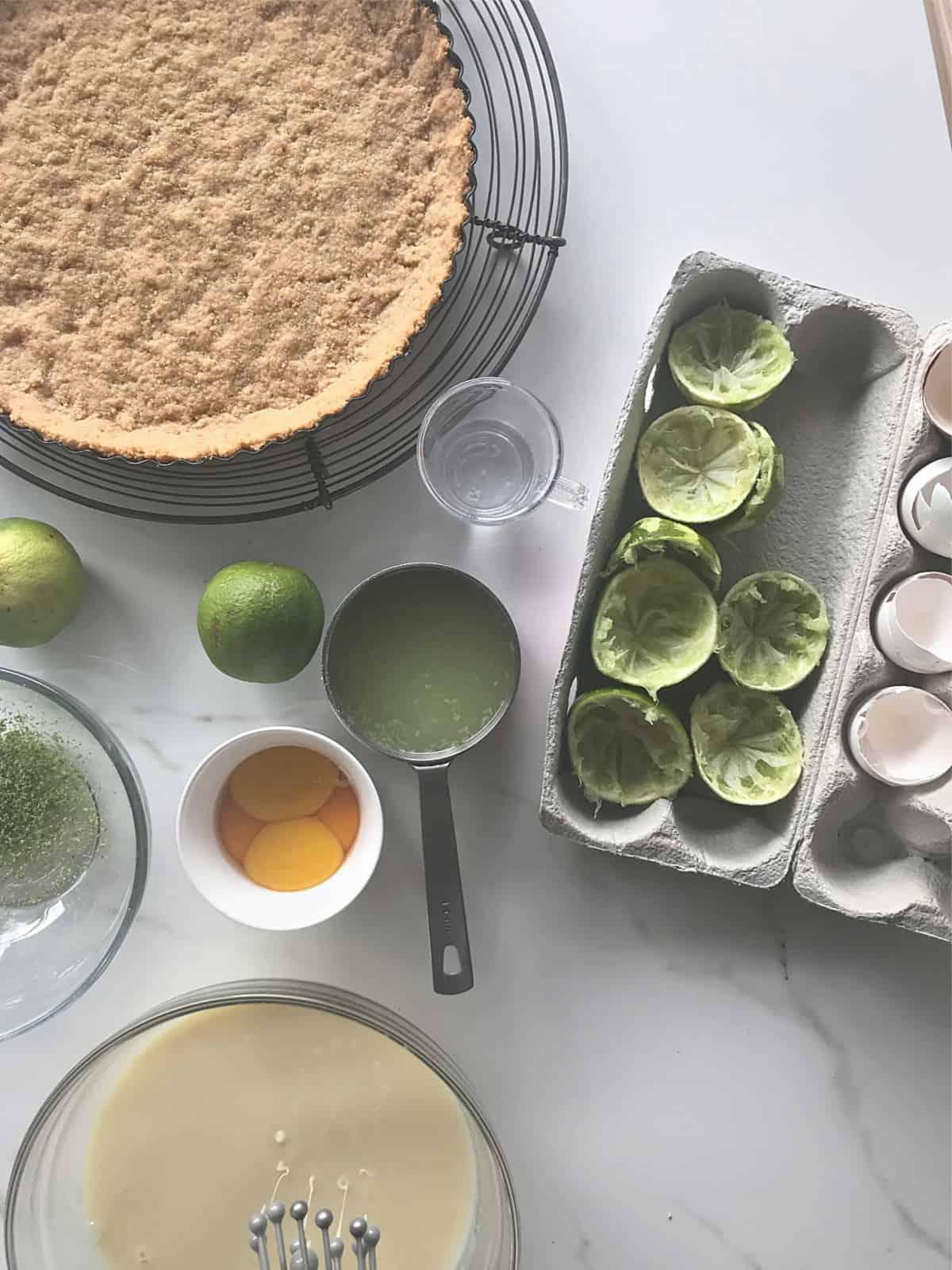 margarita key lime pie ingredients and crust