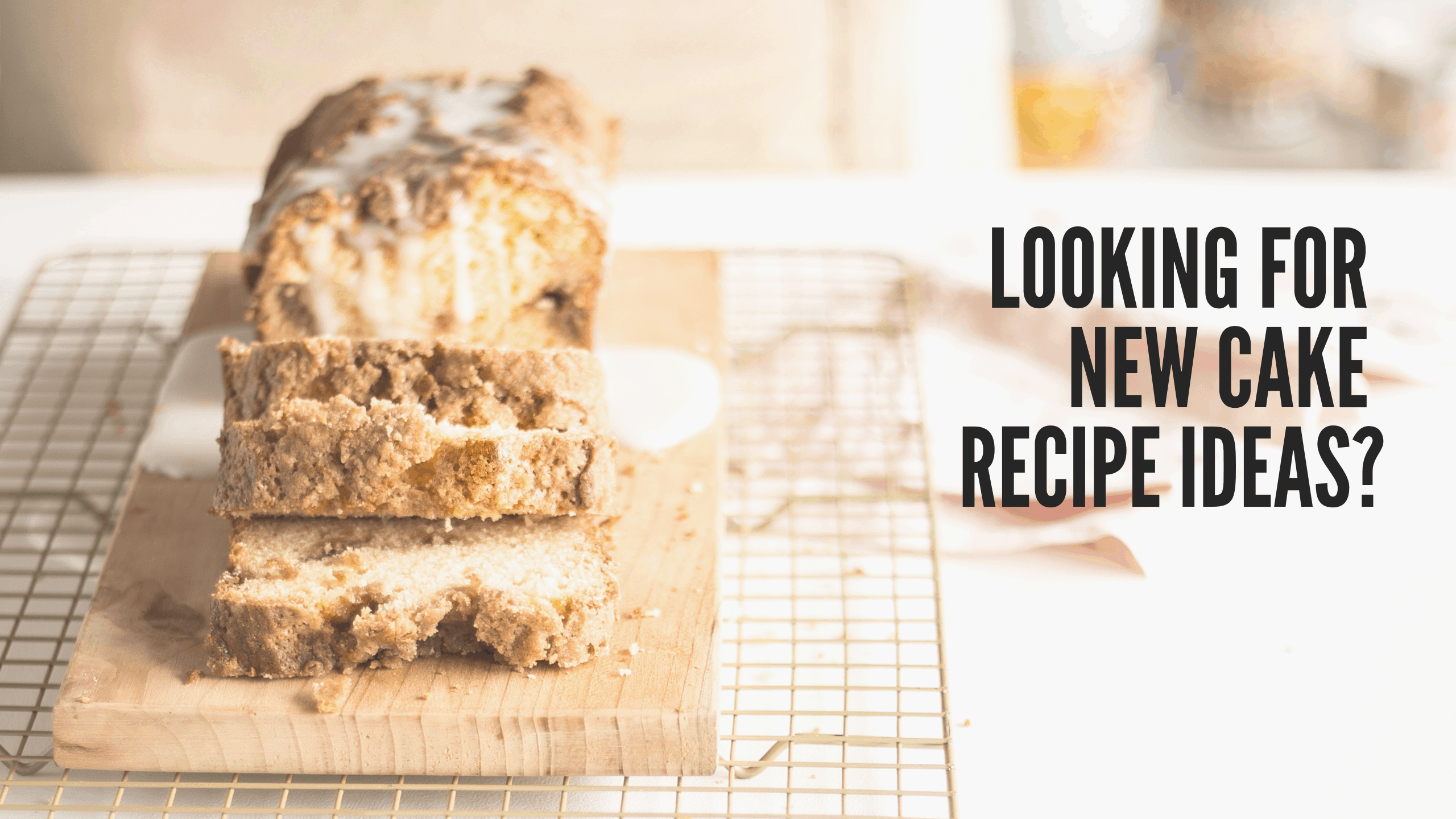 cake recipes banner