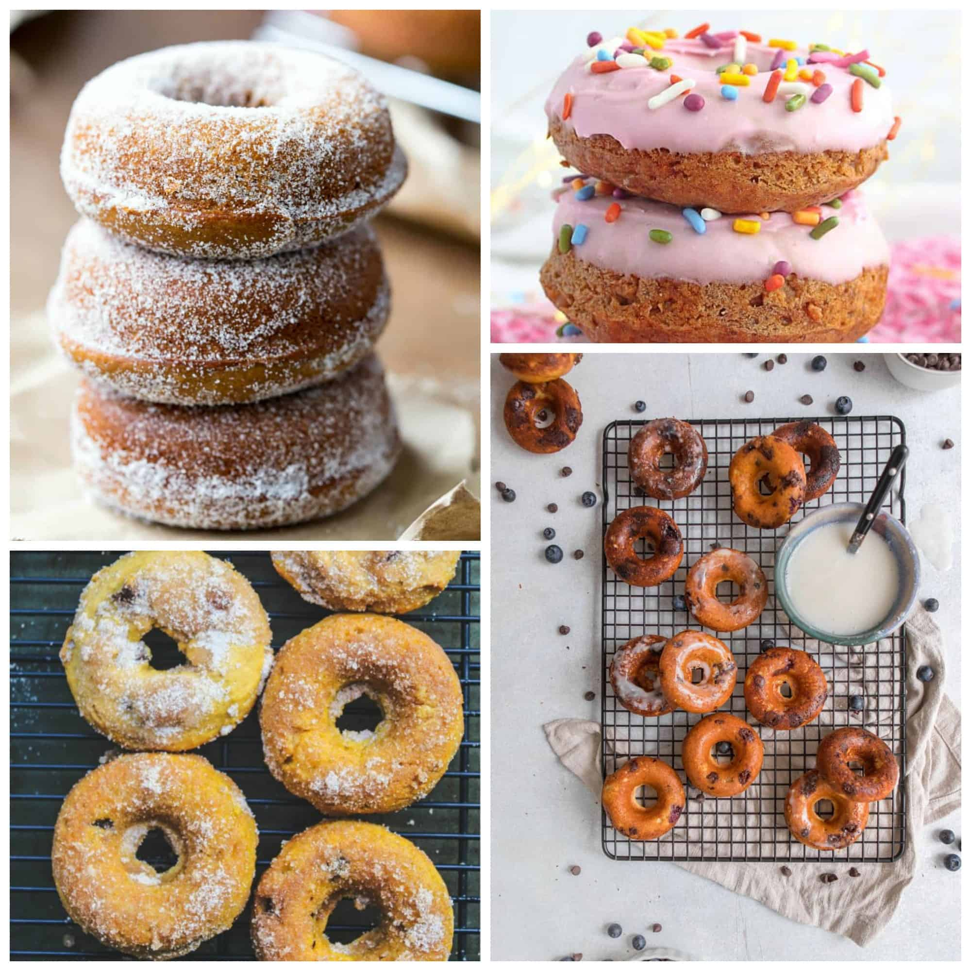 Donut recipe round-up mosaic