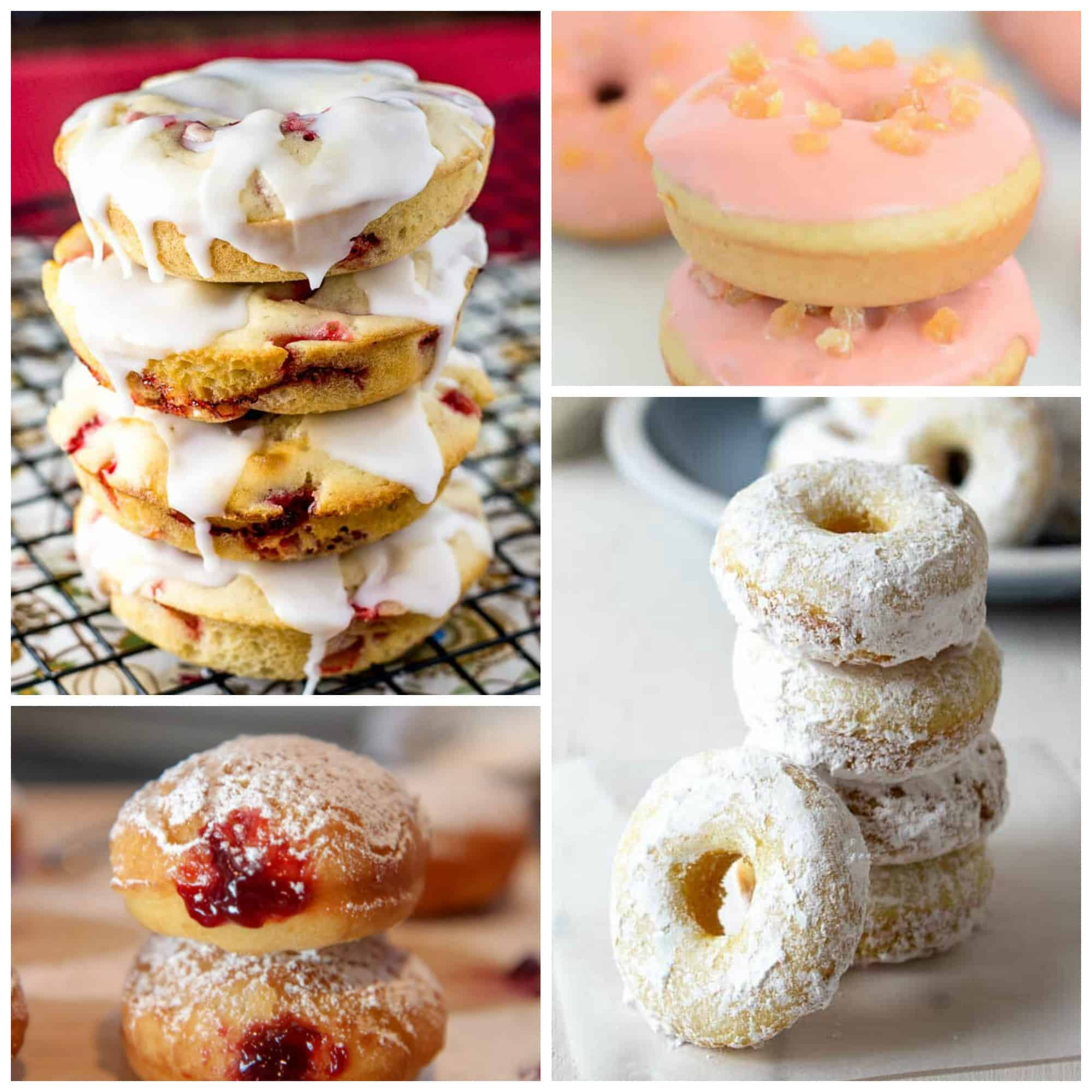 Doughnut recipe round-up mosaic