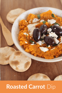 Roasted carrot dip pinterest banner