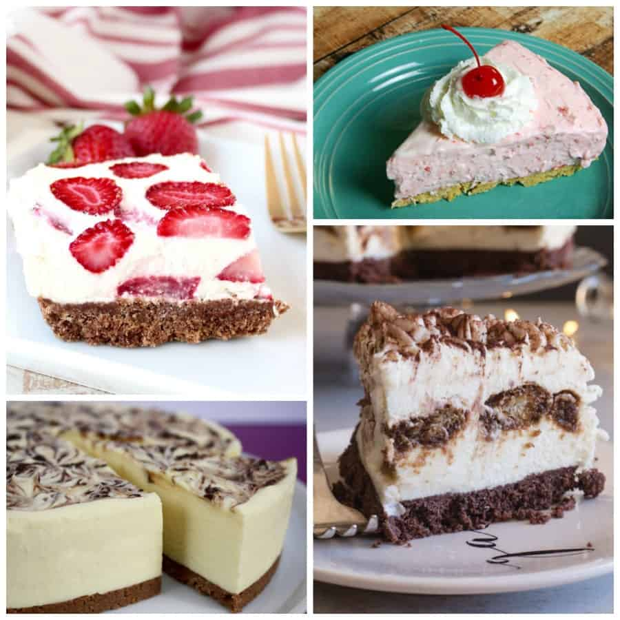 Cheesecake no-bake Collage
