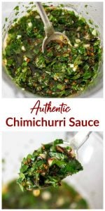 Chimichurri Images Collage with text