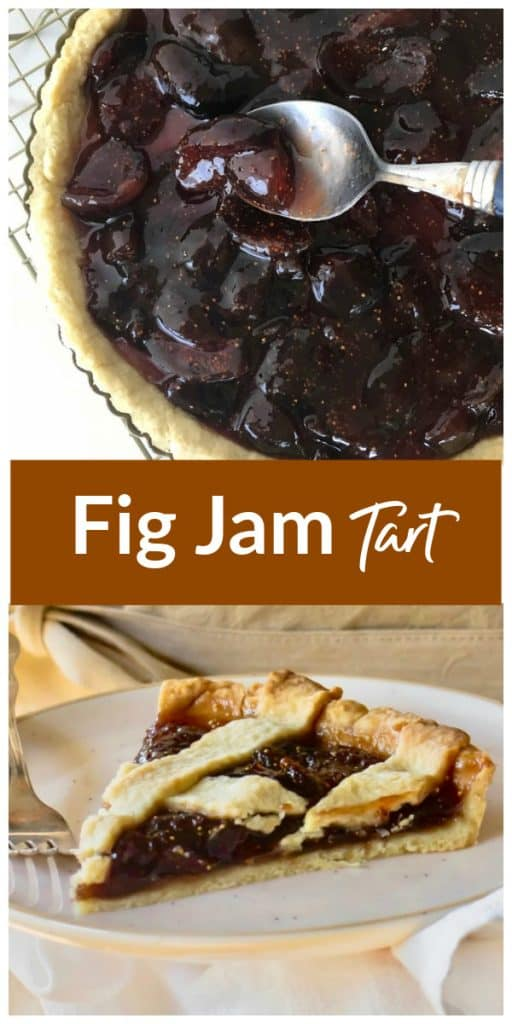 Fig Jam Tart pinterest collage