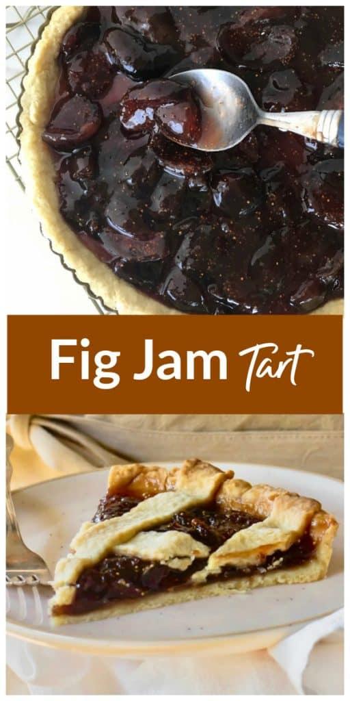 Fig Jam Tart pinterest collage
