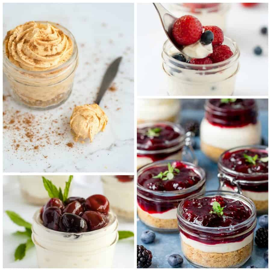 No-Bake Cheesecake Jars Collage