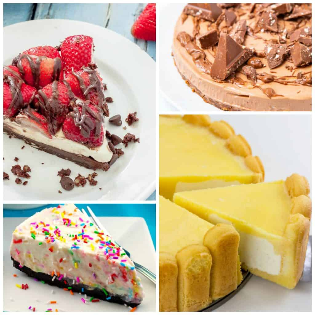 No bake cheesecake Collage