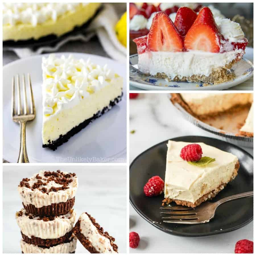 No-bake cheesecake Collage