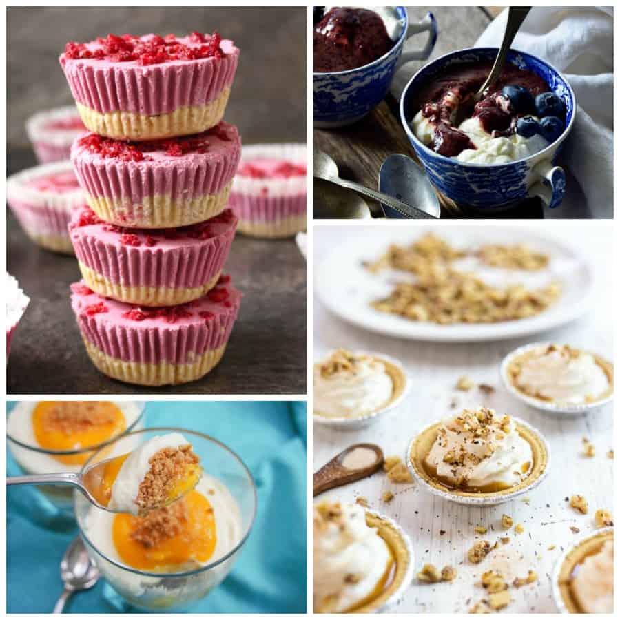 No-bake cheesecake Collage