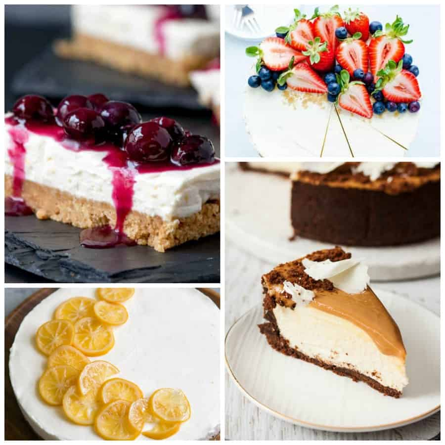No-bake cheesecake collage 1