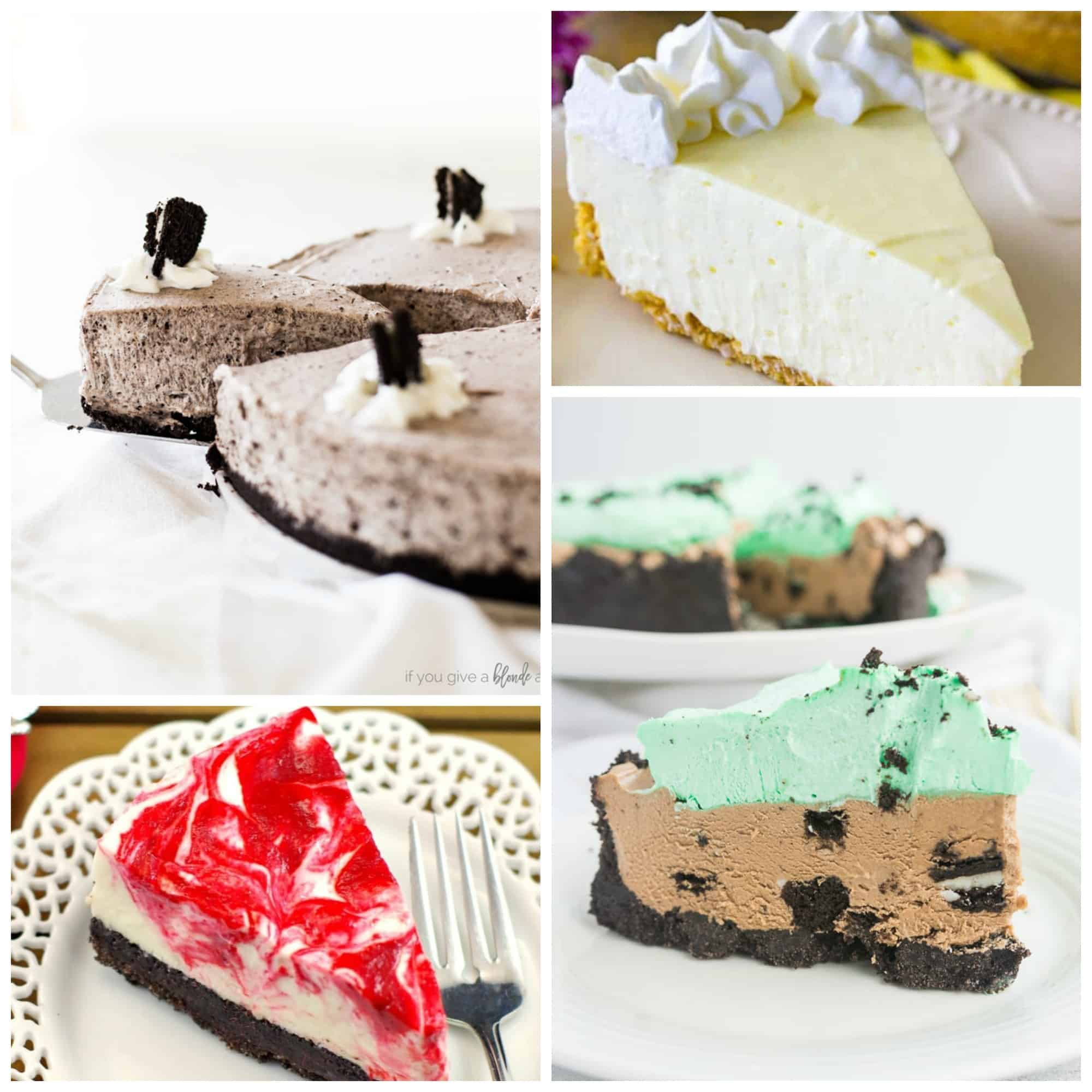 Image for No-bake cheesecake collage