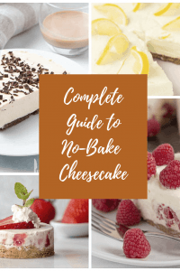 Banner for no-bake cheesecake guide