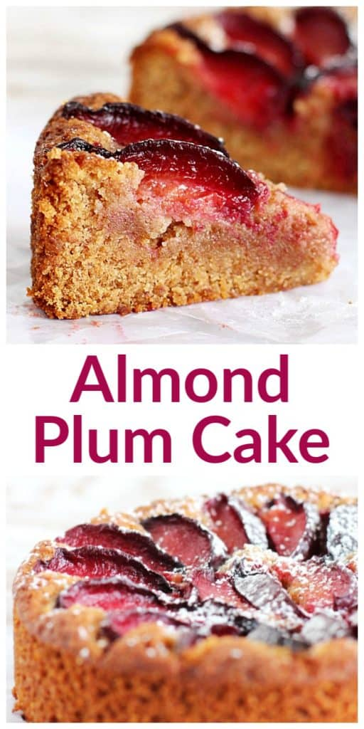 Almond Plum Cake long pin with text
