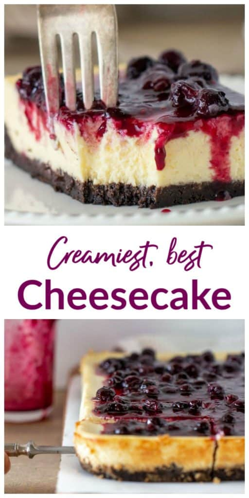 Best Cheesecake image Collage with text