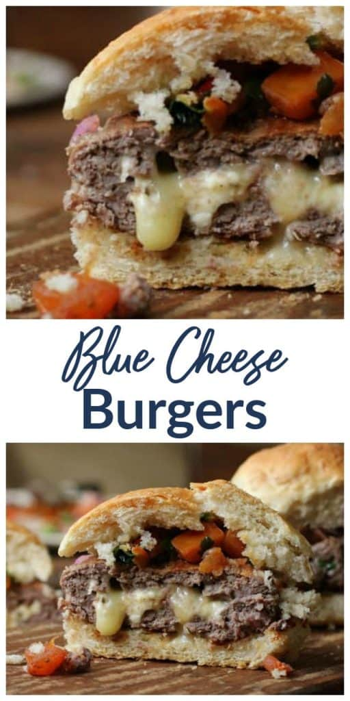 Blue cheese burger collage (1)