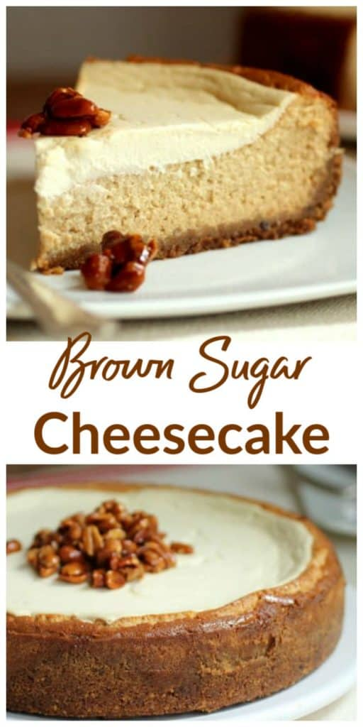 Brown Sugar Cheesecake Collage with text