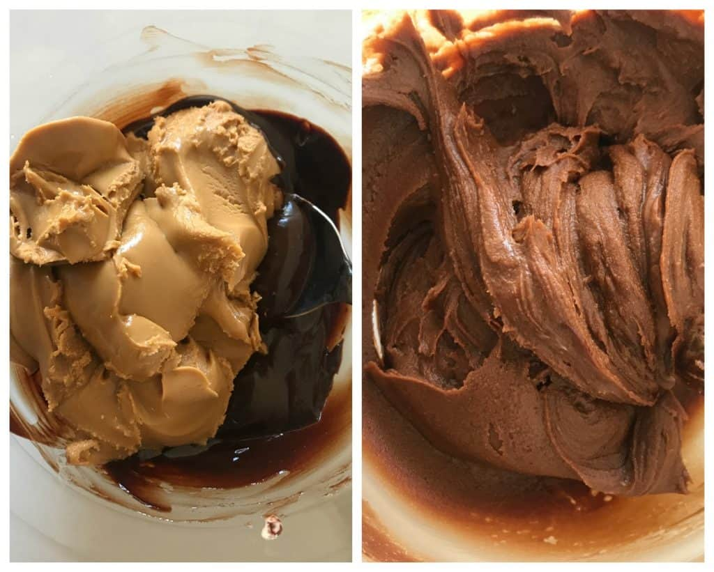 Peanut butter chocolate frosting Image Collage