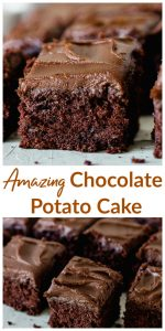 Chocolate Potato Cake long pin with text