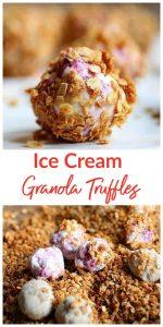 Ice Cream Granola Truffles Pinterest Collage