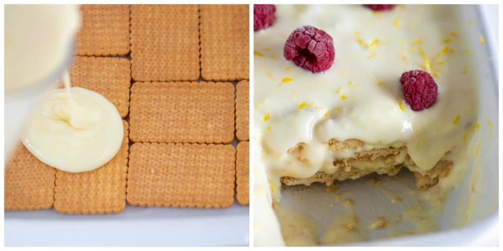 Lemon Icebox dessert Collage