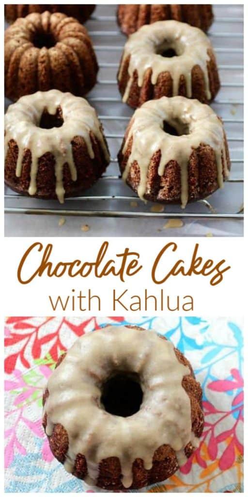 Kahlua Chocolate Bundt Cakes Collage