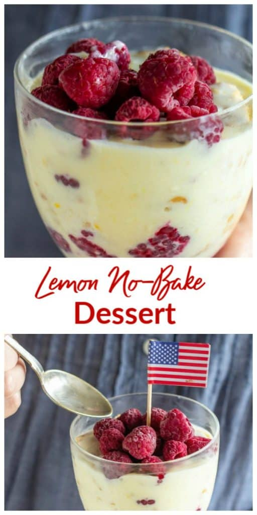 Lemon No-Bake Dessert Collage.