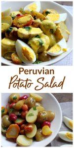 Peruvian potato salad image Collage