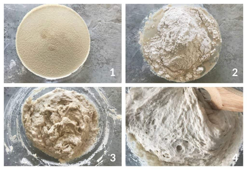 Semolina Bread Process Collage