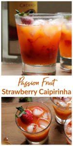 Strawberry Passion Fruit Caipirinha Image Collage