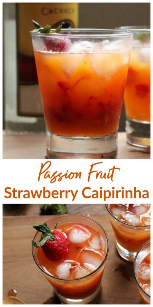 Strawberry Passion Fruit Caipirinha Image Collage