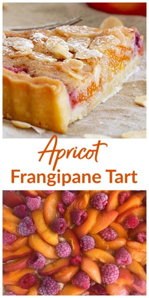 Apricot Frangipane Tart Pin with text