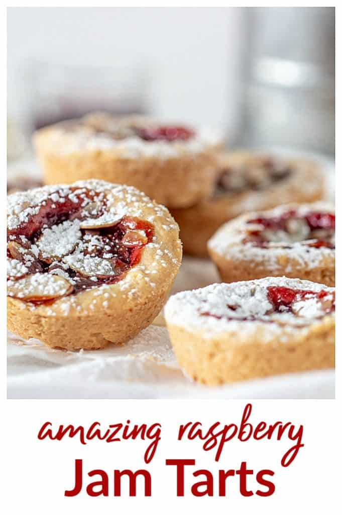 Raspberry Jam Tarts pin with text