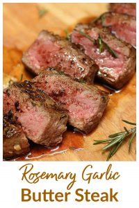 Rosemary Garlic Steak pin with text