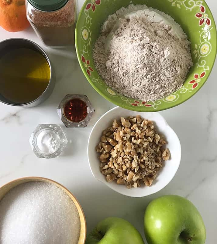 Apple Loaf cake ingredients