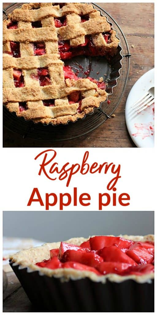 Apple Raspberry Crostata long pin with text