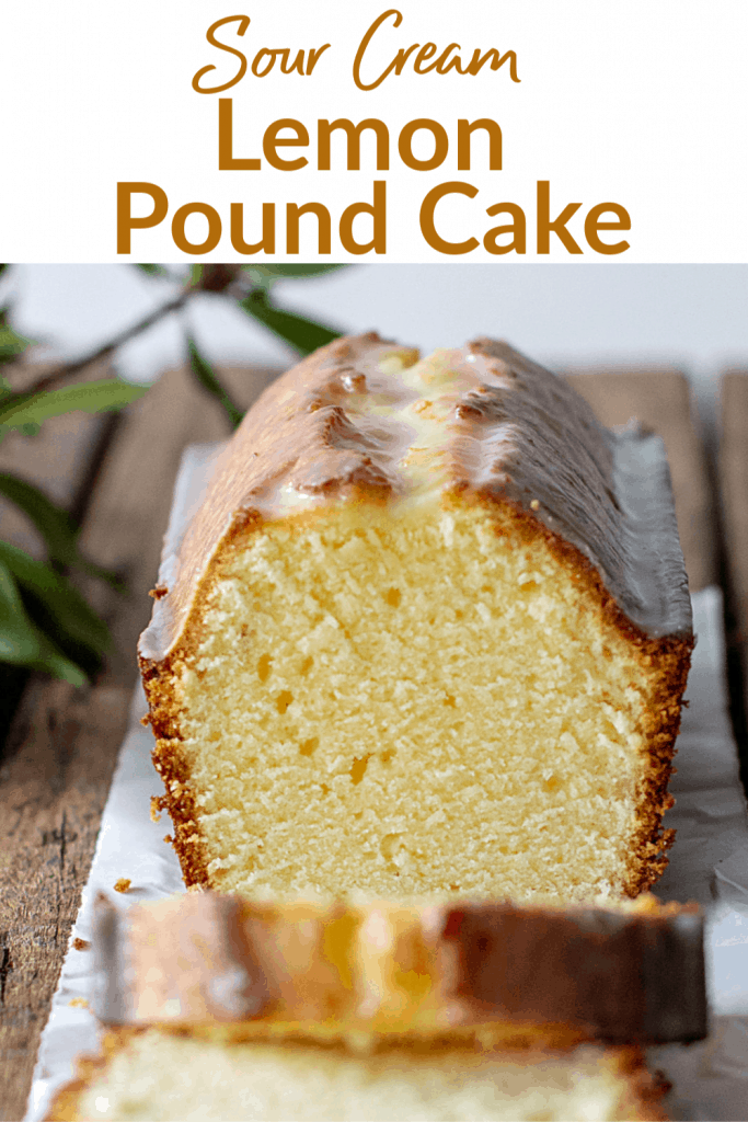 Lemon Pound Cake Pin with text