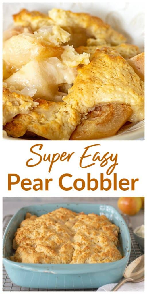 Pear Cobbler long pin with text