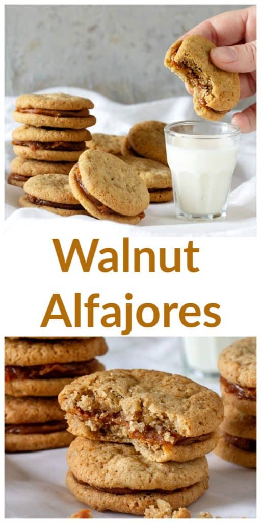 Walnut Alfajores long pin with text