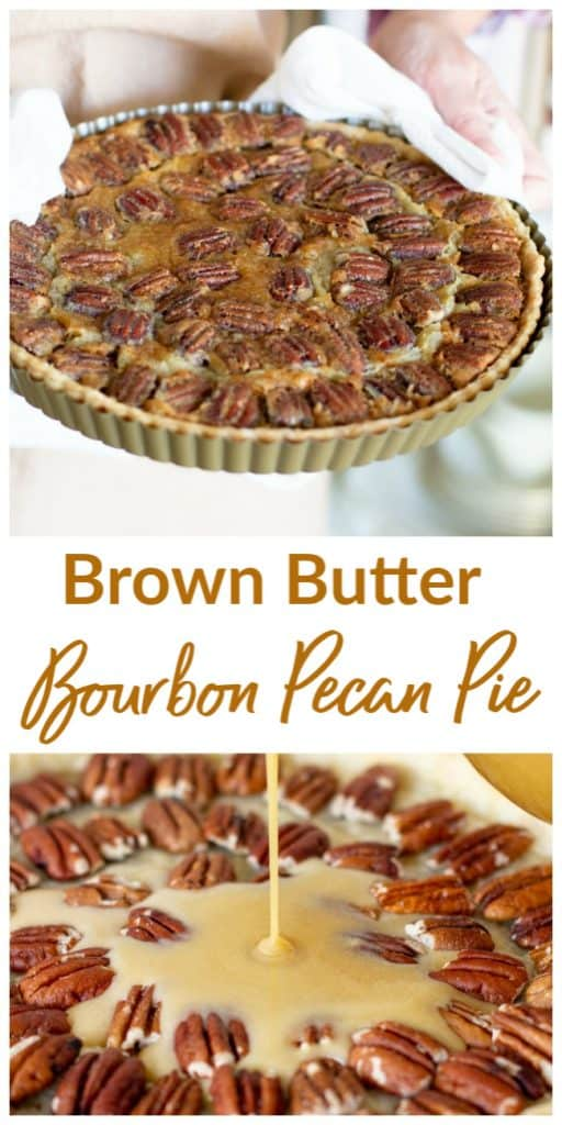 Bourbon Pecan Pie long pin with text