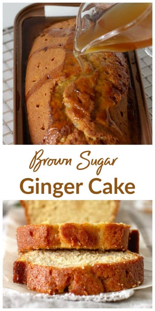 Brown Sugar Ginger Loaf long pin with text