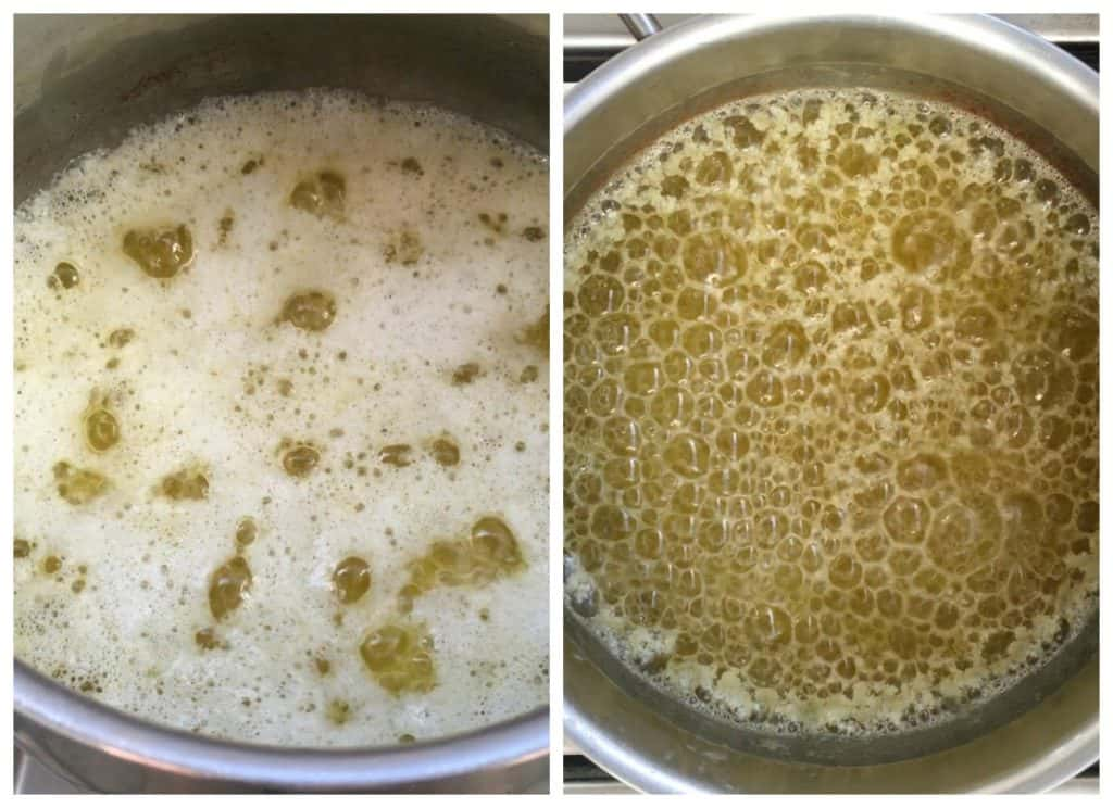 Brown butter process Collage