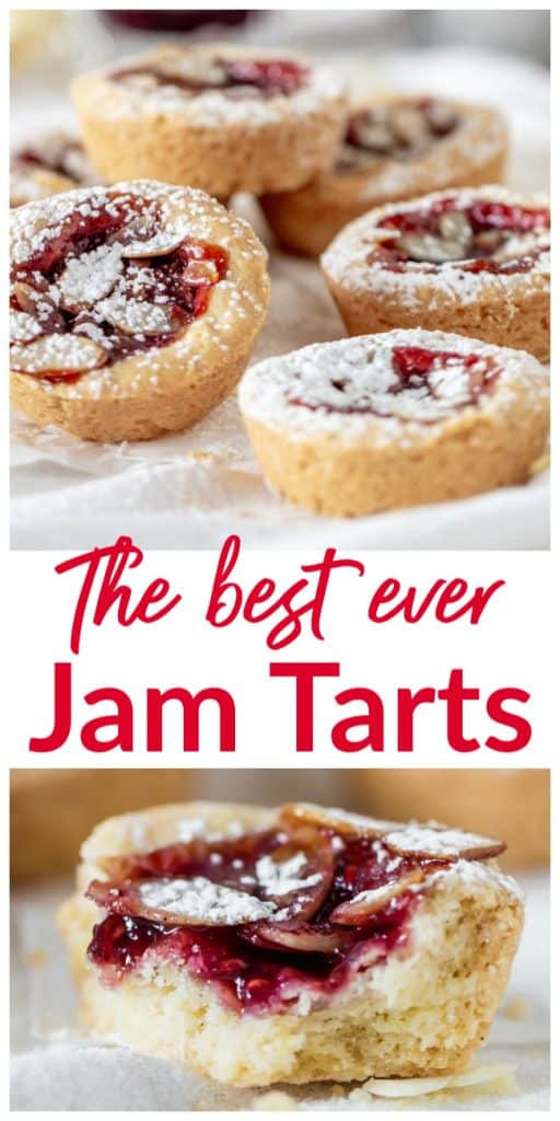 Raspberry Jam Tarts long pin with text