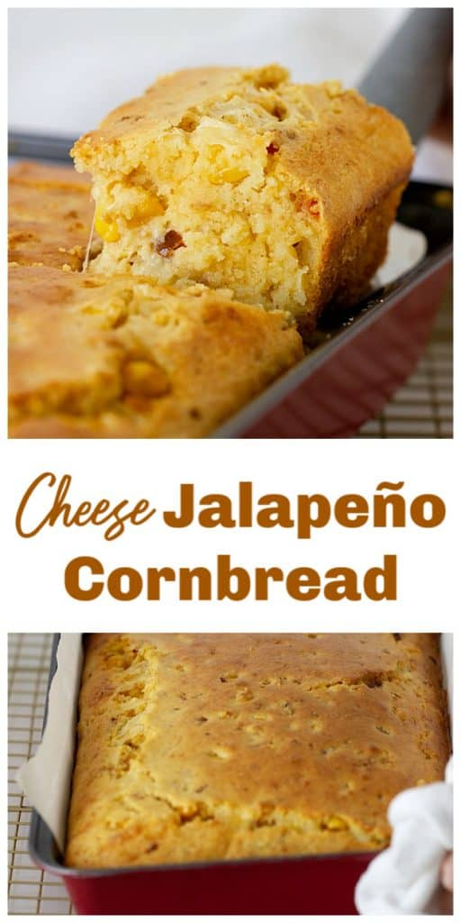 Jalapeño Cornbread long pin with text