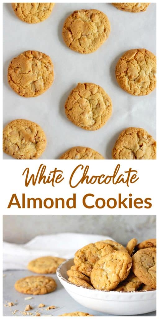 White chocolate cookies long pin with text