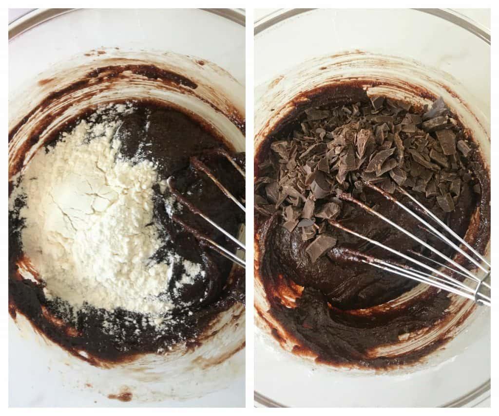 Brownie Cookies process collage
