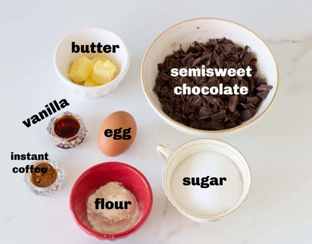 Brownies cookies ingredients