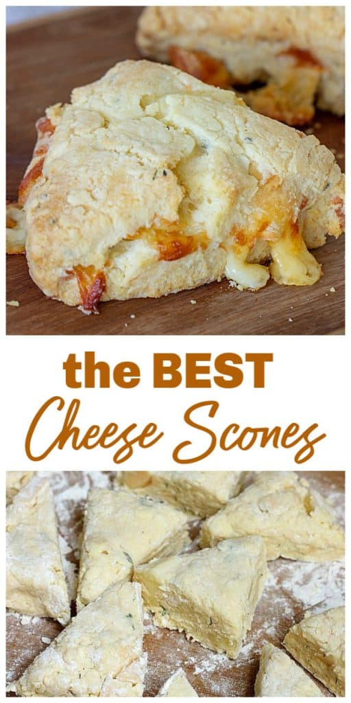 Cheese scones long pin with text